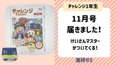 チャレンジ1年生口コミ!11月号は『かん字こくばんセット』と『ずけいパズル』!お風呂で遊べる♪