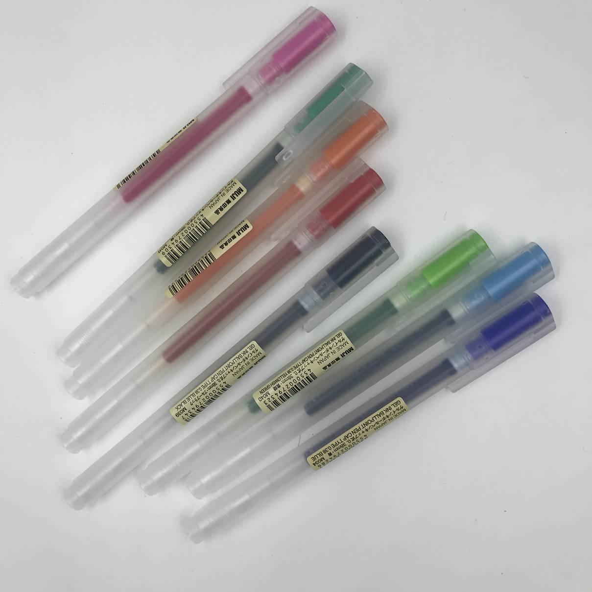 無印良品のゲルインキボールペン0.38mmキャップ式