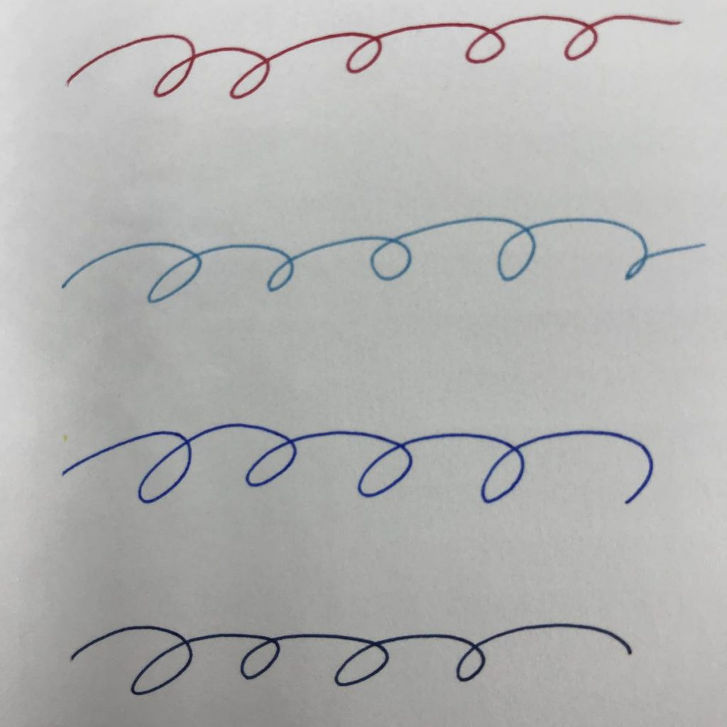 無印のゲルインキボールペン0.38mmキャップ式8色がやっぱり書きやすい!