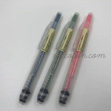 無印良品・蛍光ペン5色・ポリプロピレンノック式はにじまない