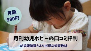 月刊幼児ポピーの口コミ・評判を徹底比較!うちの子どもに合うの?