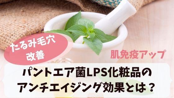 パントエア菌lpsを含む化粧品!肌免疫アップで美肌・アンチエイジング効果