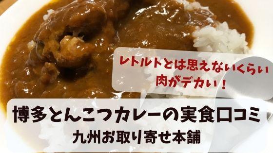 【肉デカ!】九州お取り寄せ本舗の博多とんこつカレーの実食口コミ!九州女子がレトルトカレーを実食・画像43枚