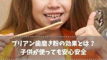 ブリアン歯磨き粉の効果とは?子供が使っても安心安全・目指せ虫歯ゼロ!